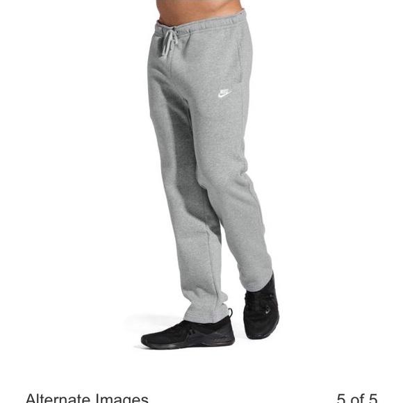 24800e5e2dd48 Nike Pants | Mens Grey Open Leg Sweat New Condition | Poshmark